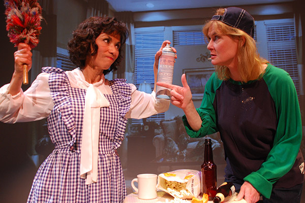 From Left: Florence (Patty Reinhart) and Olive (Kelly Gregg-Rubingh) have a tough time getting along