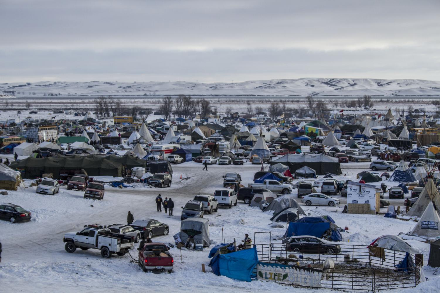 The Standing Rock Reservation camp in December 2016