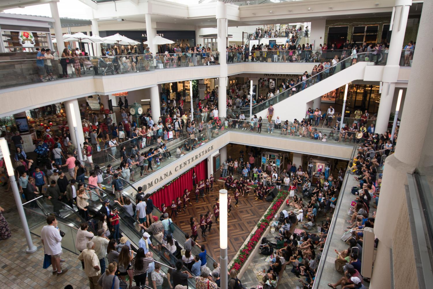 People crowd the mall in attempts to get the most out of Black Friday Sales. Photo by Flikr Creative Commons