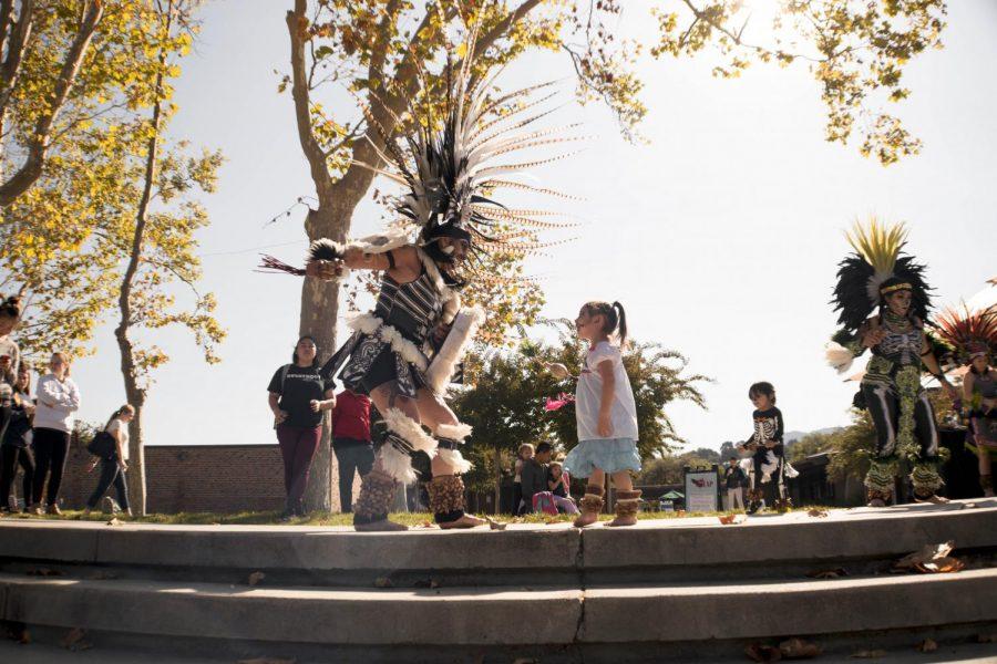 Aztec Dancers preform at the Dia de los Muertos Celebration
