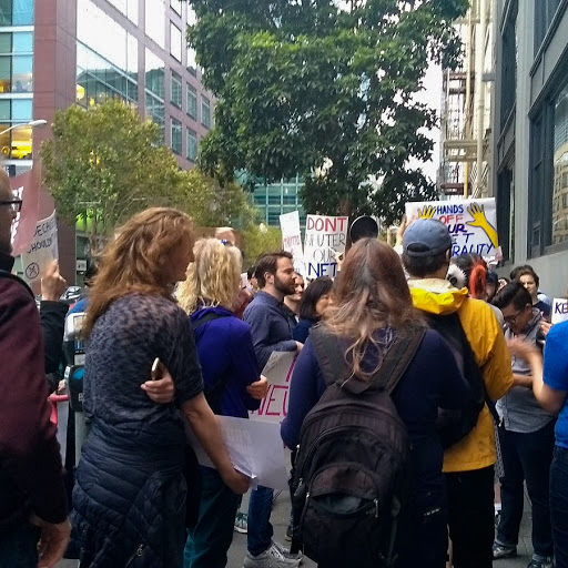 A net neutrality protest in San Francisco