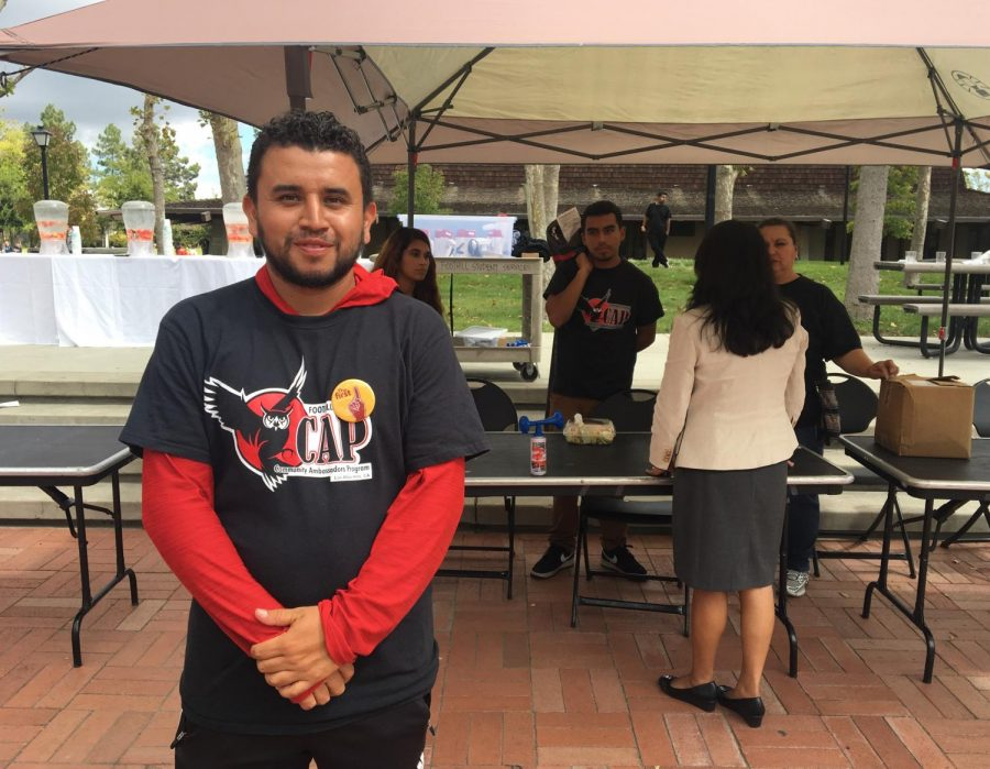 Juan Ramirez, a community ambassador, helps a Foothill event run smoothly with the help of the CAP team
