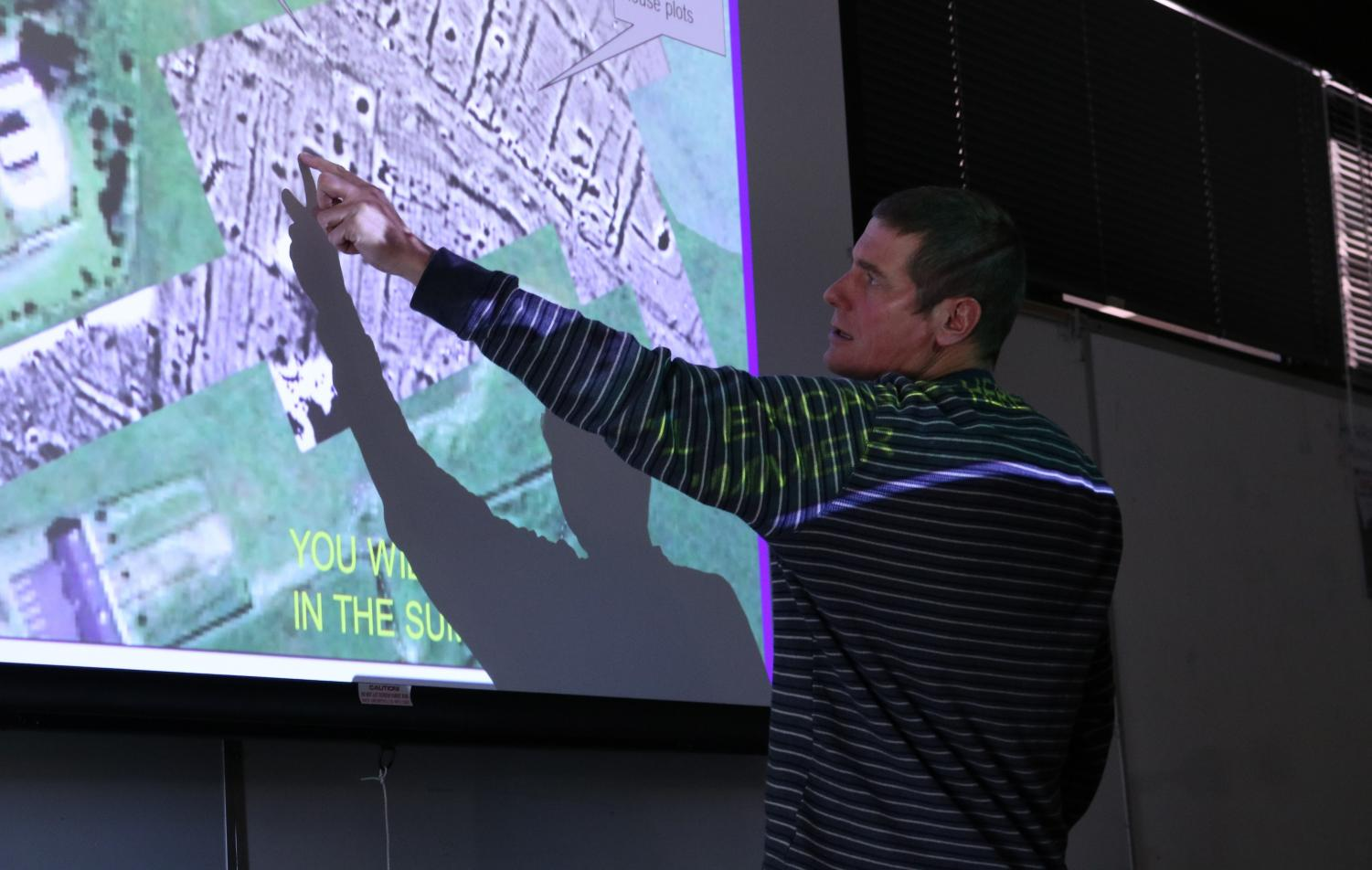 Professor Connell discusses magnetometry of the buried village in Ireland