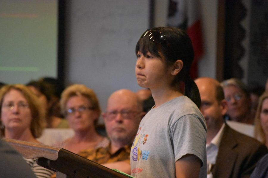 Foothill+student+Mami+Horikawa+tearfully+describes+how+work-to-contract+is+affecting+her.