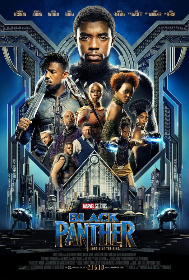 The+official+theatrical+release+poster+for+Black+Panther.+